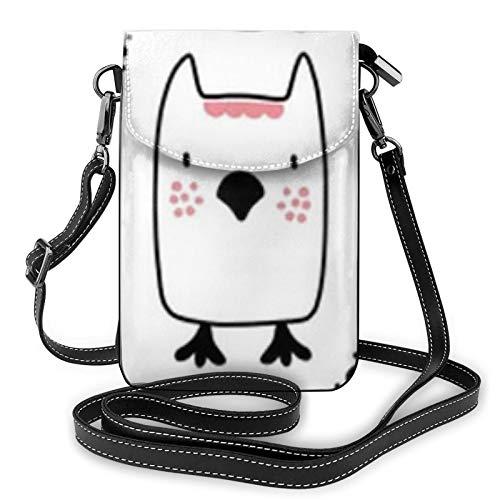 Resumen bebé patrón perro lindo mujer pequeño mensajero bolsa de hombro teléfono móvil bolsa tarjeta cartera
