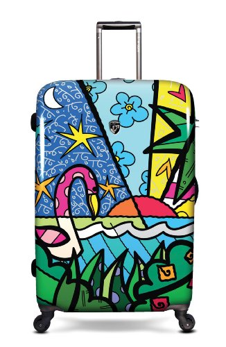 Equipaje, Maletas y Bolsas de Viaje - Premium Designer Maleta Rígida - Heys Artista Britto Palm Trolley con 4 Ruedas Grande