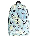 Women Girls 3D Printing Unicorn Backpack, Cute Emoji Monkey Panda Casual Daypacks College School Bag (Panda)