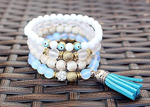 ANSP88- White stone beads multi Popular brand in the world bracelet Reservation j vintage bangles layer