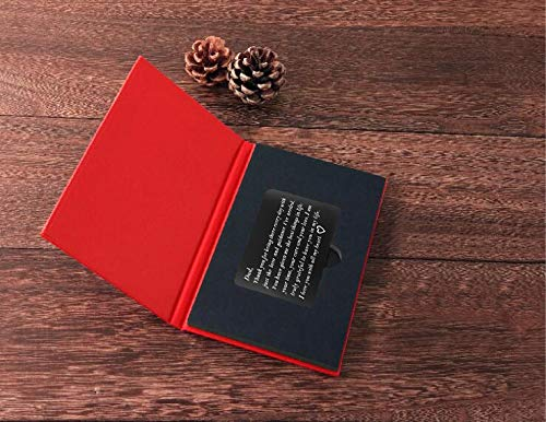 Birthday Gifts for Dad from Daughter, Fathers Day Gifts Ideas, Dads Christmas Present, Engraved Wallet Insert for Father