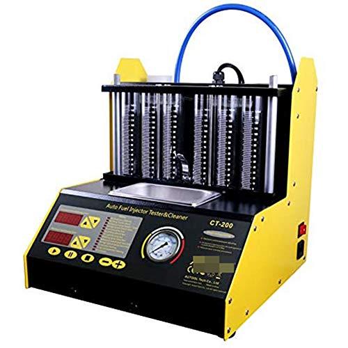 CT-200 injecteur de carburant auto-moto, nettoyeur à ultrasons et le testeur d'injection pour voiture 6-cylindre,Noir
