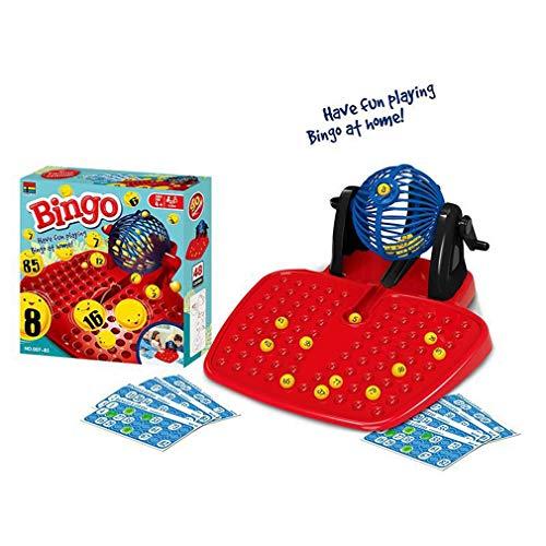 Bingo Tumbler Lotto Lottery Machine 90 Bolas Numeradas 48 Cartas Juego Familiar rojo