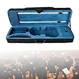 4/4 Softcase Geigenkoffer Violinenkoffer Rucksacksystem Geigenkasten Flanell Innen Koffer Kasten für Geige/Violine mit 2 Verstellbar Gurt