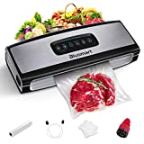 Vacuum Sealer Blusmart Food Sealer Machine with cutter for Food Savers, Seal Time+ Mode for Juicy...