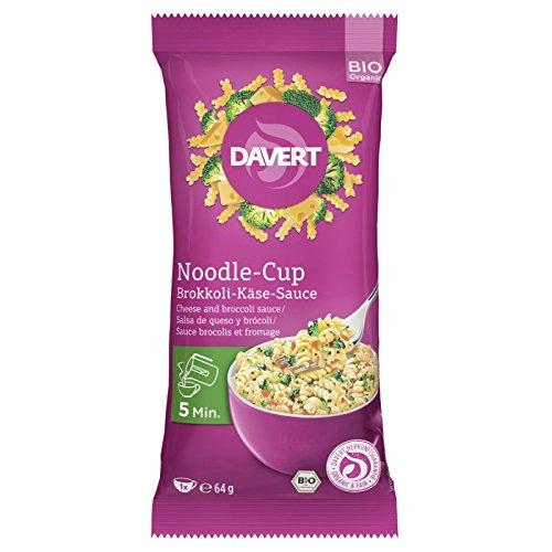 Davert Noodle-Cup mit Brokkoli-Käse-Sauce (64 g) - Bio