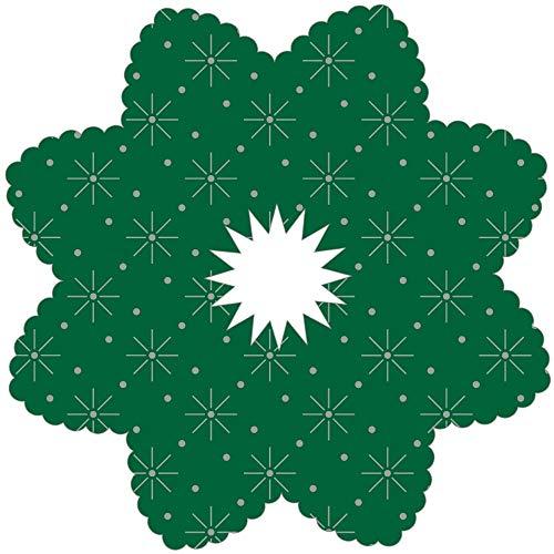 Tropfenringe aus Tissue in Grün, Ø100mm, Innenloch 22mm, 250 Stück - Mank