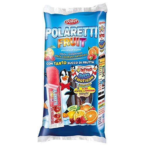 Dolfin Polaretti Fruit 'Original italienisches Wassereis mit Fruchtsaft, 10x 40 ml
