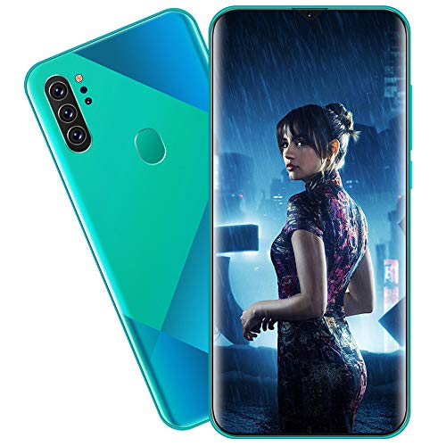 EDANQ Smartphones Desbloqueado M80 (8GB + 512GB) 6.7'HD teléfono móvil, con 13MP + 24MP AI teléfono Celular con cámara cuádruple Ultra Ancha, batería de Gran Capacidad 4800mAh Android 10,Verde