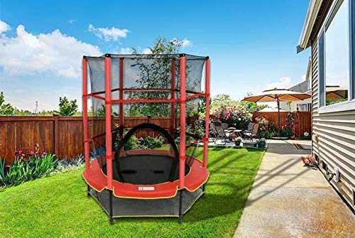 BARGAINSGALORE 4.5FT OUTDOOR TRAMPOLINE ACTIVITY KIDS 55' REBOUNDER SAFETY NET MINI ENCLOSURE