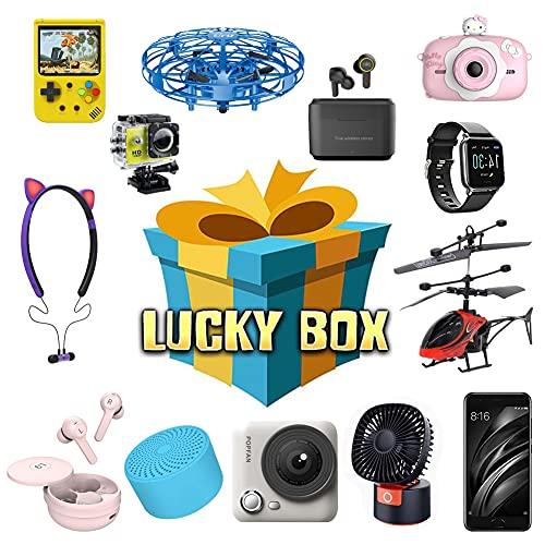 FXQIN ZDSKSH Caja De Misterio Mystery Box Electronica Producto Aleatorio Reloj Inteligente, Drones, Auriculares, Bonitos Regalos Lo ltimo, Lucky Box Juguete Cualquier Cosa Posible
