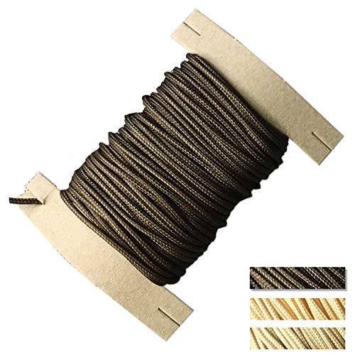 EFIXS Zugschnur für Holzjalousien (Durchmesser 2,2 mm) - Farbe: Dunkelbraun - Länge: 10 bis 25 Meter - Hier: 10 Meter