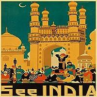 1000ピースパズル-インドの肖像画- 大人と子供のための大きなジグソーパズル-26x38cm