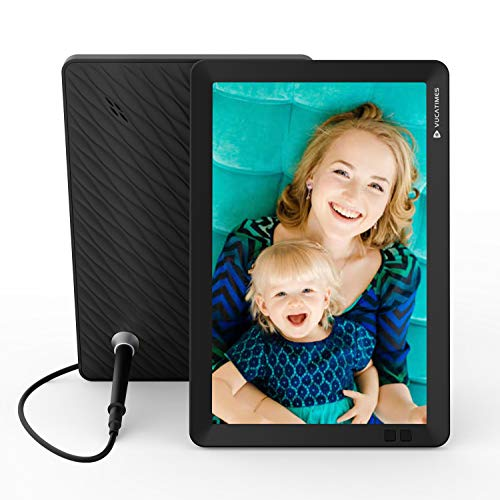 VUCATIMES 8-Inch Cloud Digital Photo Frame - Smart WiFi Picture Frame, 8GB Storage and 10GB Cloud Space, IPS Display, Remote Control, Auto Sleep, Work with Android APP (iOS APP Coming Soon), V8 Digital Frames Picture