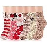 Aniwon 6 pares Calcetines de Navidad Termicos Mujer Invierno Calcetines de Felpa Regalo de Navidad para Hombres y Mujeres