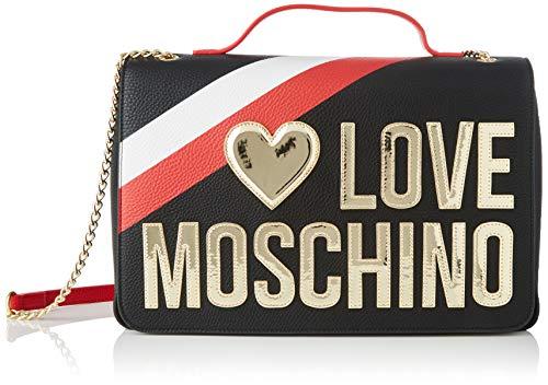 Love Moschino Jc4285pp0a, Borsa a Tracolla Donna, Nero (Black), 12x23x33 cm (W x H x L)
