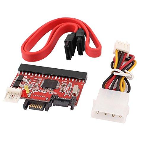 Aexit IDE HDD a SATA ATA 100/133 Adaptador convertidor de CD DVD en serie + Cable de alimentación SATA (d57ed335fe208ad3224306ff818c6651)