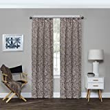 Eclipse Bryton Blackout Window Curtain Panel, 37' x 84', Espresso