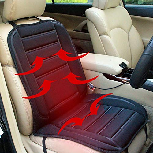 Heated Seat Cushion, 12V Car 24V Truck Seat Heaterheated seat Covers for Cars Warmer - Heated Seat Cover Universal Fit for Auto Supplies Home Office (Pad)