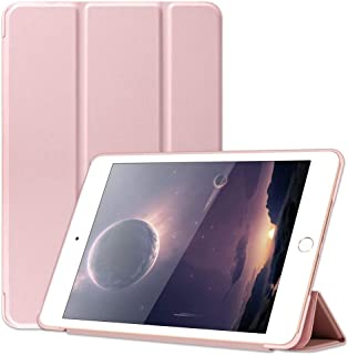 GKK for iPad Mini 5 / iPad Mini 4 4 Sides Premium Leather Protective Case, Ultra Slim Lightweight Strong Magnetic Stand Case with Smart Auto Sleep/Wake Function (Rose Gold)