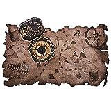 Costume da pirata e accessori per feste: mappa e bussola della caccia al tesoro La mappa del tesoro dei pirati è un'aggiunta perfetta ai costumi dei pirati, alle decorazioni per le feste dei pirati, alle decorazioni per la tavola e ai giochi di cacci...