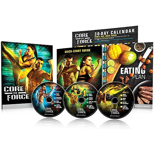 ZONEV 30 Day Core De Force DVD,10 MMA Inspired Workouts on 3 DVDs Boxing Kickboxing and Muay Thai