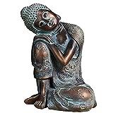 J.Mmiyi Buda Estatua Figura Zen Sentado Meditación Escultura Adornos, Tailandés Interiores Decoració...