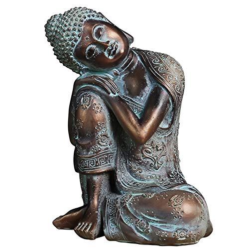 J.Mmiyi Buda Estatua Figura Zen Sentado Meditación Escultura Adornos, Tailandés Interiores Decoración del Hogar Regalo,A