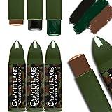 Amakando Militär Tarnschminke Schminkstifte Army Tarnfarben Makeup Bundeswehr Soldaten Schminke...