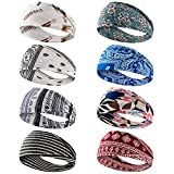 Dlala 8 Pack Headbands for Women Yoga Running Sports Headbands...