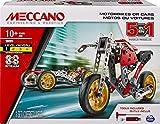 MECCANO - VOITURE ET MOTO 5 MODÈLES - Coffret Inventions Avec 132 Pièces Et 2 Outils - Jeu de Construction - 5 Modèles Différents de Véhicules à Construire - 6053371 - Jouet Enfant 10 Ans et +
