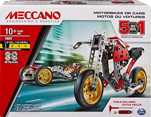 MECCANO- Multimodello Moto 5 in 1, Kit di Costruzione S.T.E.A.M., dai 10 Anni - 6053371