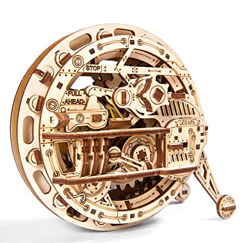 Ugears Monowheel 3D Mechanical Wheel, Wooden Model for Self Assembling, DIY, Brainteaser, Best Gift