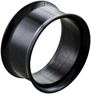 Monster piercing, dilatatore per orecchio in acciaio chirurgico 316L anodizzato, colore: nero