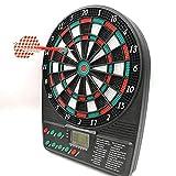 XQHD Tablero De Dardos Electrónico Tablero De Dardos Máquina De Dardos con 3 Dardos 18 Juegos Y 159 Variantes para 1-8 Jugadores,Black