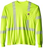 Carhartt Men's High Visibility Force Long Sleeve Class 3 Tee,Brite Lime,XX-Large