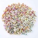 FZC-YM 50 unids/Set 2 CM Cabezas de Flores de Margarita Mini Flores Artificiales de Seda para Guirnalda Scrapbooking hogar Boda decoración Color Mezclado