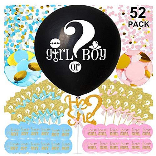 KRIS Geschlecht offenbaren,Ballon Boy or Girl ,Luftballons Mädchen Oder Junge, Baby Shower Party Dekorationen, Geschlecht Baby ,überraschung Party (B)