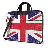 Estilo clásico Bandera británica Bolso para computadora portátil Funda Protectora para computadora portátil Bolso de Hombro antiarañazos Bolso para Escuela Colegio
