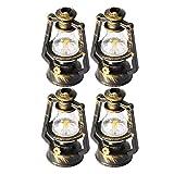 Casa De Muñecas Linterna Miniatura Retro Keroseno Mini Lámpara De Aceite Lámpara De Casa Dummy Kerosene Light Decor Craft 4pcs