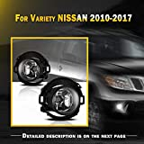 Nissan Off-Road Bumpers - Fog Light Set Fit for NISSAN 10-18 Frontier & 05-15 Xterra w / Bulb + Wiring Harness Kit + Universal Switch, NIXON OFFROAD Bumper Driving Fog Light Assembly, Fog Lamp Replacement Clear Len H11 12V 55W