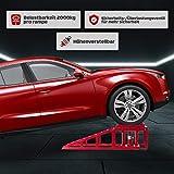 2 x PKW Auffahrrampe 55337 höhenverstellbar Rampe Wagenheber 2t 2000kg Hebebühne - 5