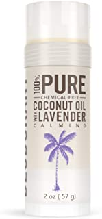 SKINNY and CO.   100% Pure Coconut Oil with Lavender Deodorant   Natural Organic Deodorant   Aluminum Free, Paraben Free, Non Toxic, Vegan, Gluten and Cruelty Free   For Men and Women  