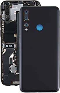 Lingland Battery Back Cover for Lenovo K6 Enjoy(Black) cell phone rear covers placement parts (Color : Black)