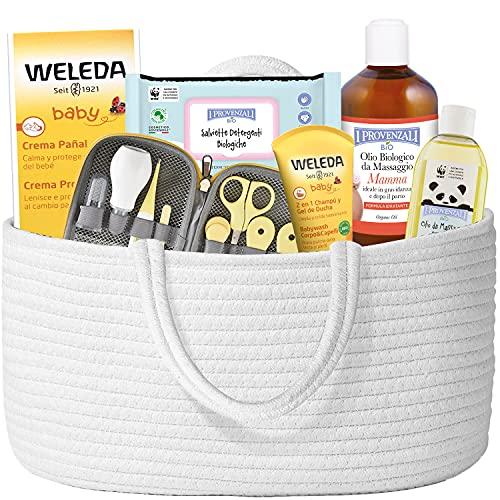 Neugeborenes Geschenk . Premium-Bio-Produkte, 7 Produkte in Premium-Qualität, mit Baumwollbeutel und Pflege-Set