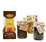 Gastronomia Alimentari Prodotti Tipici Artigianali Calabresi con Cicorie Selvatiche, Tarassaco sott'olio, Filetti di melanzane e Fichi secchi di Calabria Vegetariano