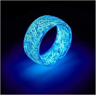Im Dunkeln Schmuck für Damen /& Herren Blau Leuchtendes Ring