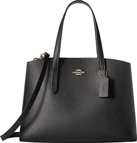 COACH Polished Pebble Leather Charlie Carryall Li/Black One Size