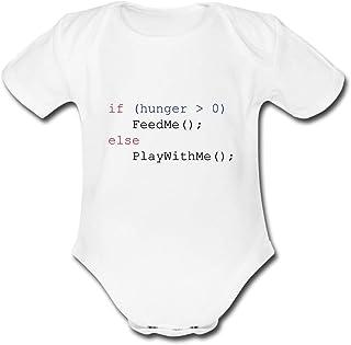 Spreadshirt Javascript Füttern Spielen Feed Me Play with Me Baby Bio-Kurzarm-Body