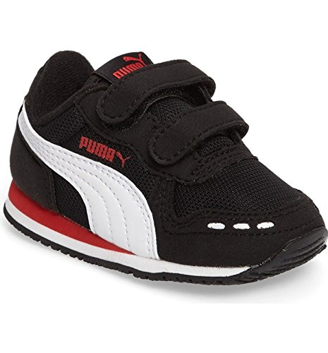 Puma Cabana Racer Mesh V Inf Sneaker zwart/rood/wit - 22 EU
